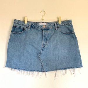 ASOS Plus Size Distressed Denim Skirt Size 14